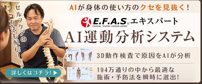 E.F.A.S エキスパートAI運動分析システム